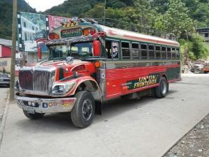 Bus du Guatemala : le Diablos rojos