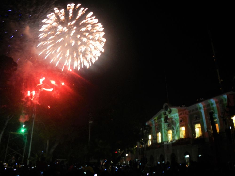 Feu d'artifice pour l'indépendance du Mexique