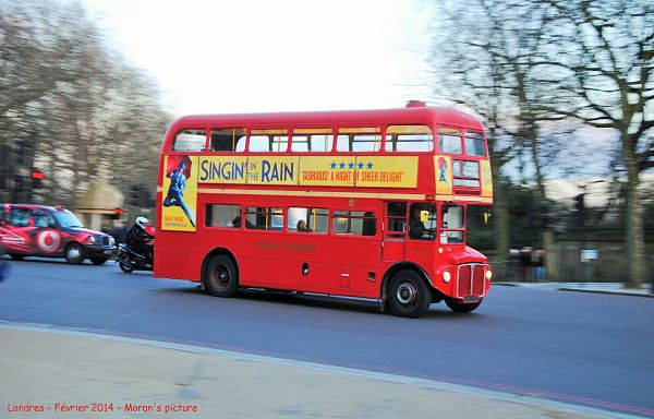 Photo d'un bus à Londres