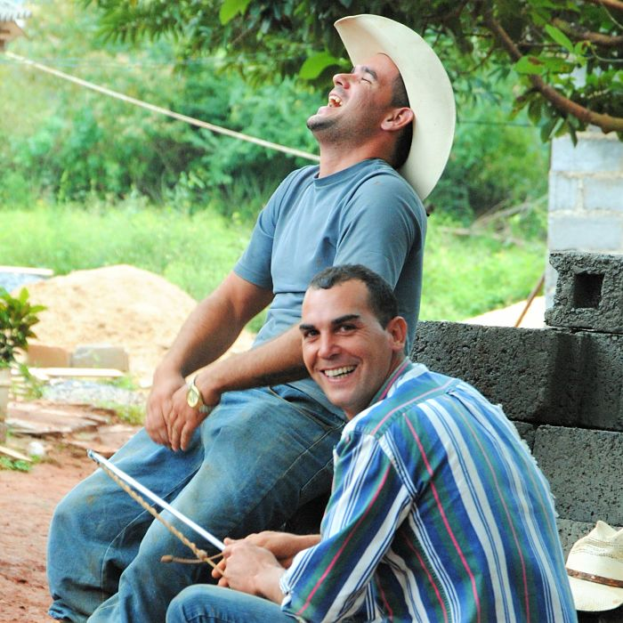 Portraits de Cuba : rire du playboy-cowboy