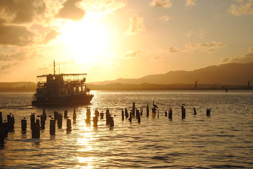 Coucher de soleil à Santiago de Cuba