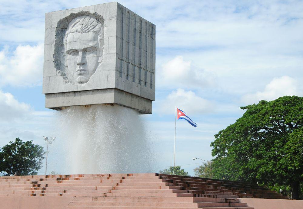 Photo d'une fontaine à Santiago de Cuba