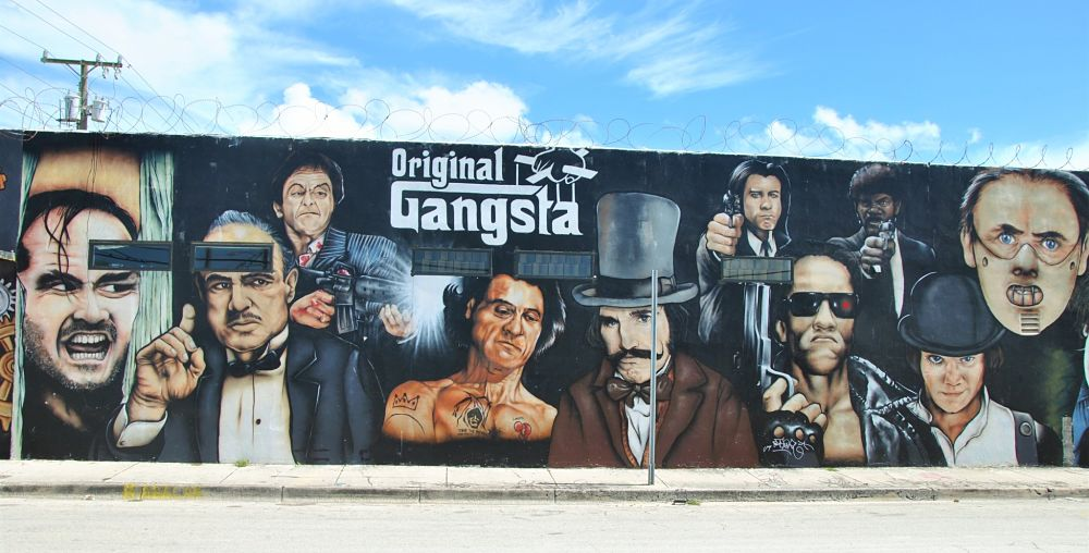 Tag de fameux gangstas à Miami