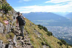 Rando dans les montagnes à Innsbruck