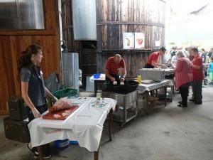Brunch à la ferme pour le premier août en Suisse