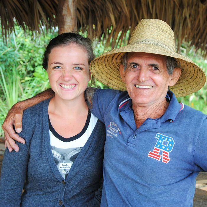 Lucy et son ami cubain