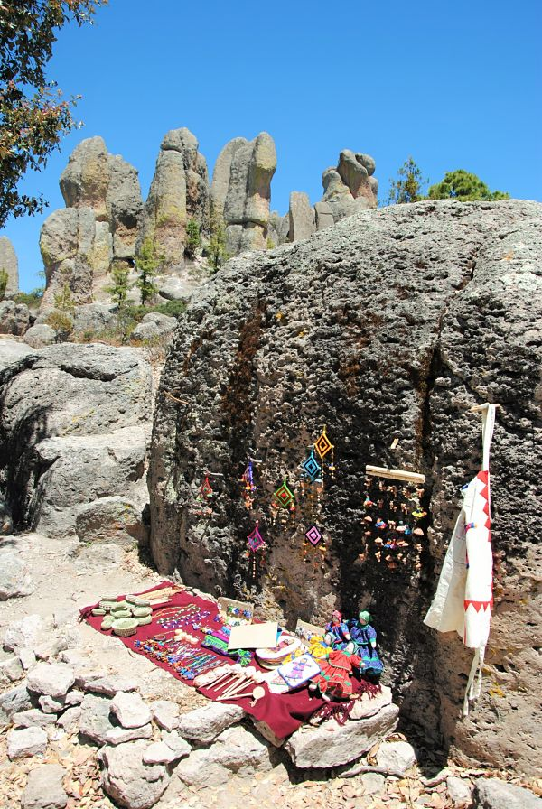 Artisanat Tarahumara au Valle de los Monjes