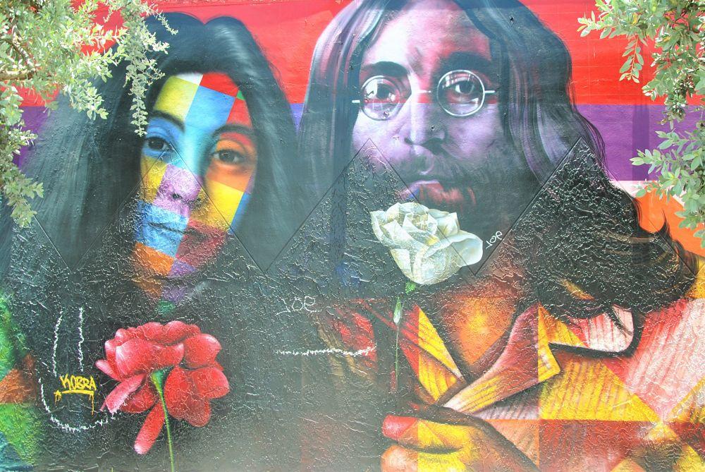 Peinture de Yoko Ono et John Lennon