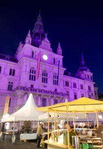 Rathaus à Graz en Autriche
