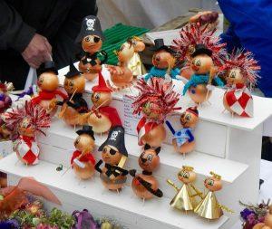 Décorations de Noël avec des oignons