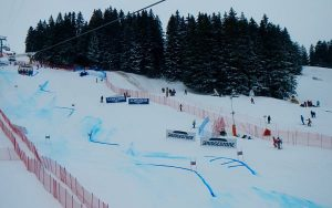 Piste de la coupe du monde de ski
