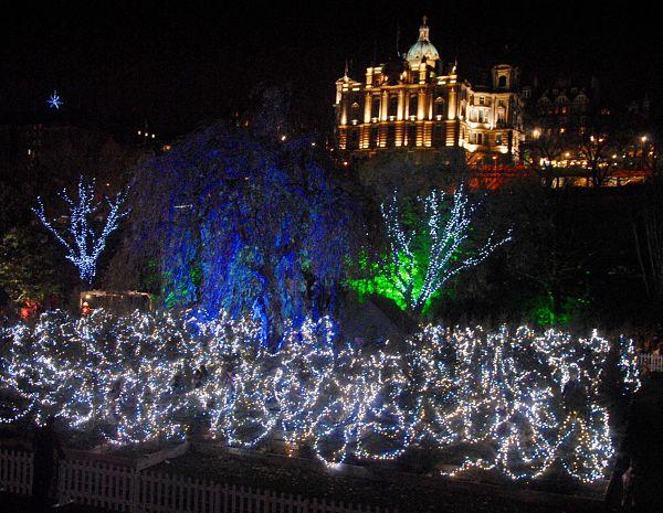Marché de Noël d'Edimbourg et illuminations