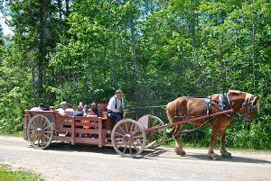 Calèche dans le village historique acadien de Caraquet