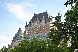 Château Frontenac dans le centre-ville de Québec