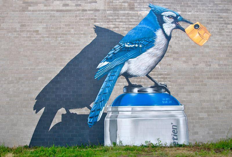 Magnifique graffiti murale à Moncton par Etien