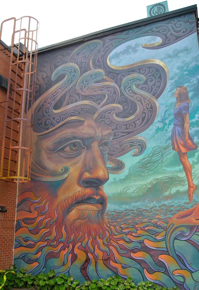 Street art urbain à Moncton pour le festival inspire