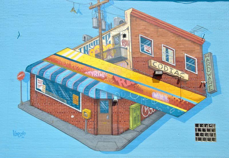 Murale de Konecki à Moncton - Art urbain