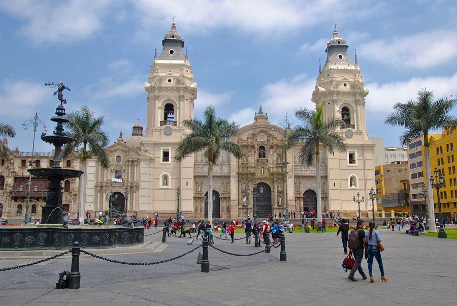 Plaza de Armas de Lima dans le centre ville