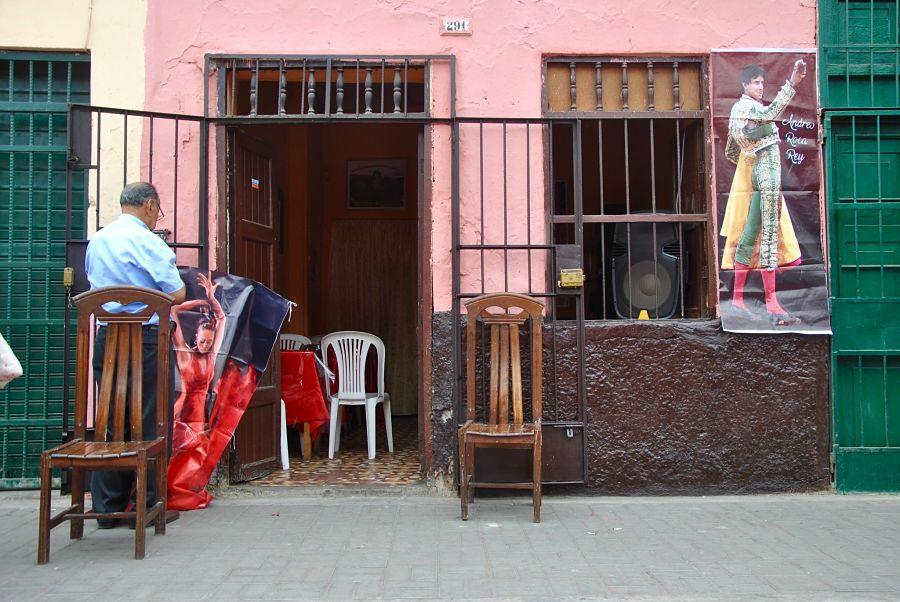 Arène et corrida dans le quartier de Rimac à Lima