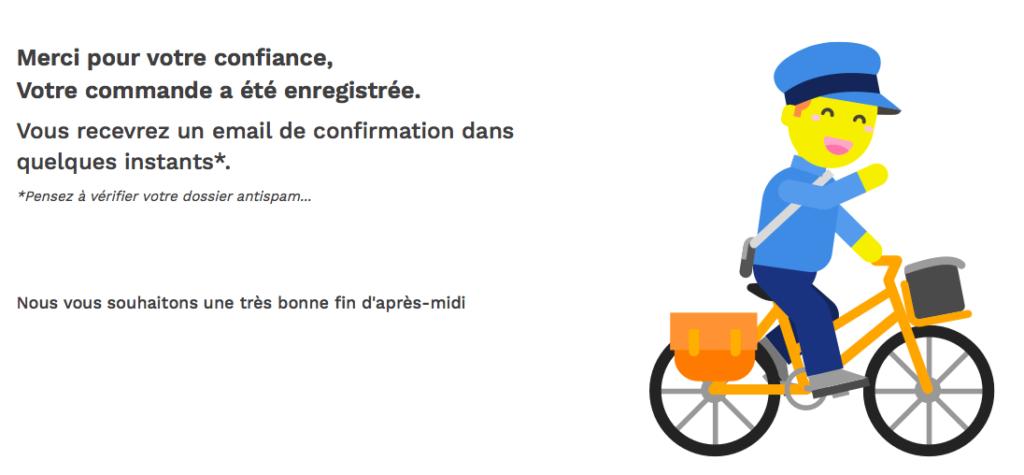 Merci Facteur envoi le courrier en France depuis l'étranger
