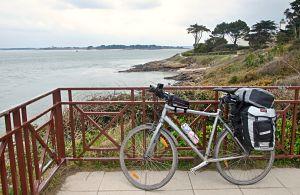 Arzon dans le golf du morbihan lors de mon voyage à vélo