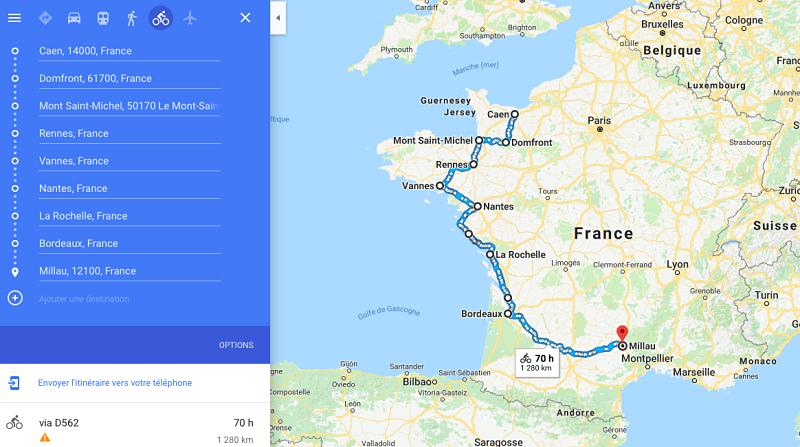 Mon itinéraire à vélo pour découvrir et partir à la rencontre de la France
