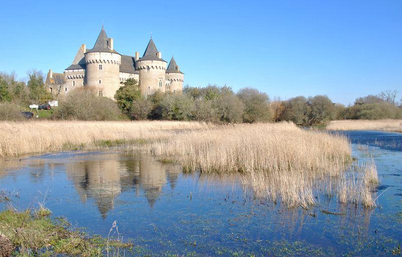 Le château de Suscinio sur la presqu'île de Rhuys lors de mon voyage à vélo