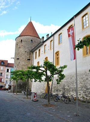 Château d'Yverdon-les-Bains dans le canton de Vaud