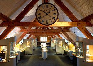 Espace horloger à Le Sentier au bord du lac de Joux en Suisse - Vaud