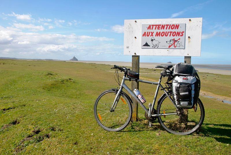 Voyage à vélo de Caen à rennes au Mont Saint Michel