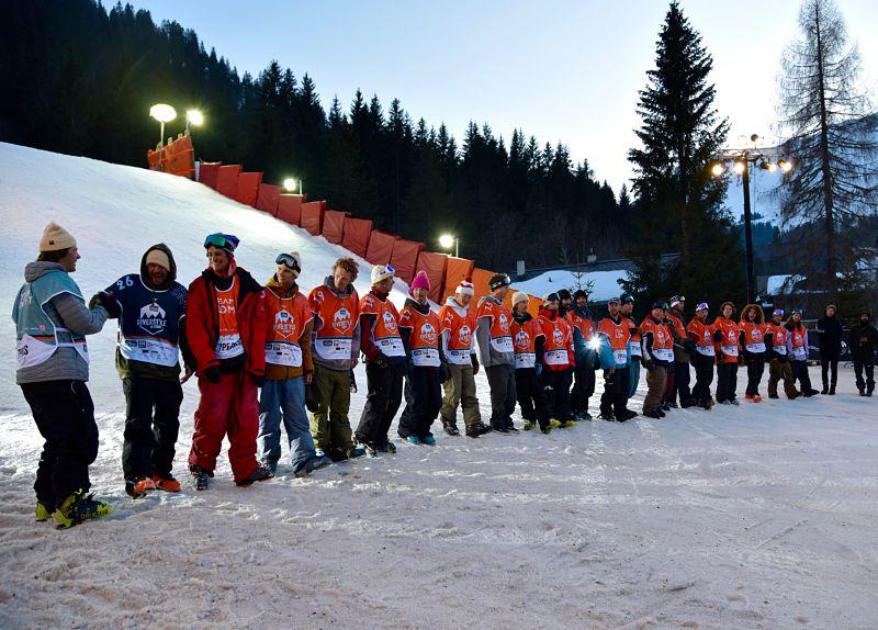 Les skieurs de la 7Peaks Riverstyle à Morgins