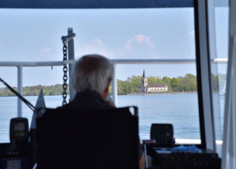 Balade en bateau sur le lac du Der