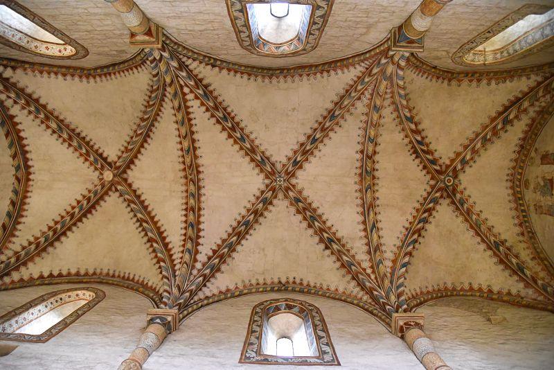 Plafond de l'abbatiale de Romainmôtier