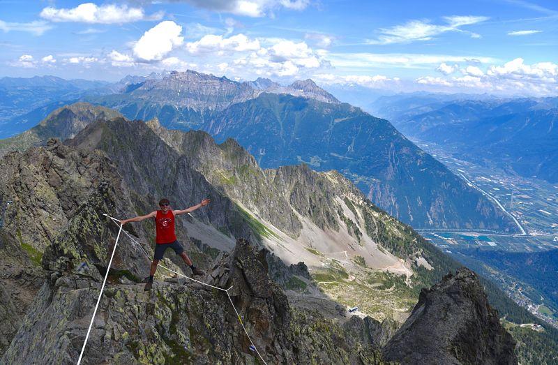 Randonnée difficile au sommet de Luisin dans le Valais