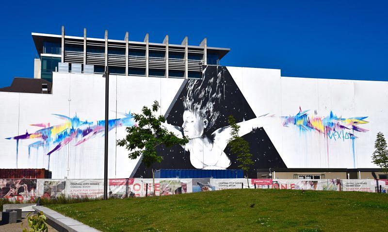 Murale de street art à christchurch