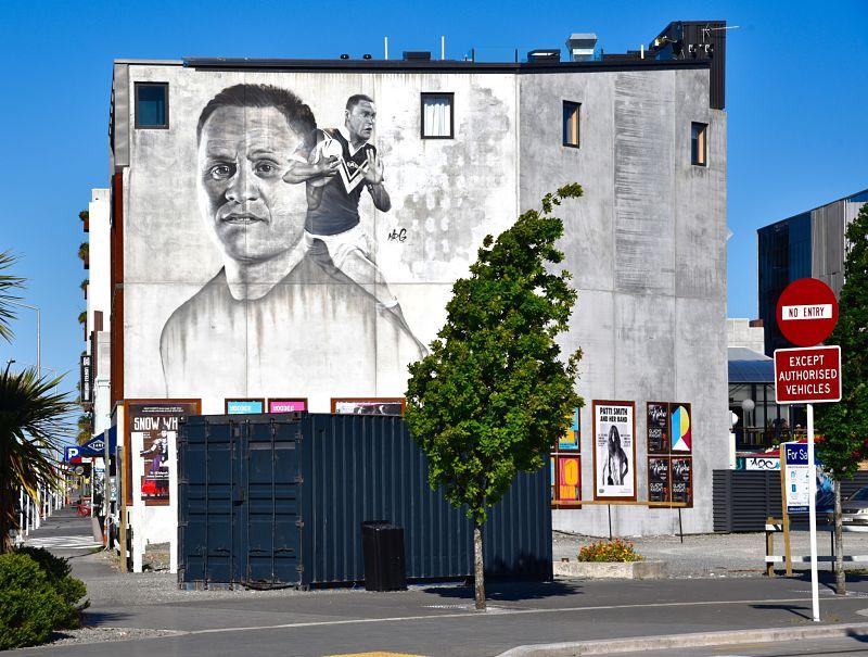 Street art et rugby à Christchurch