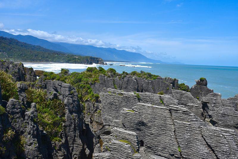 Pancakes Rock sur la côte ouest de l'île du sud