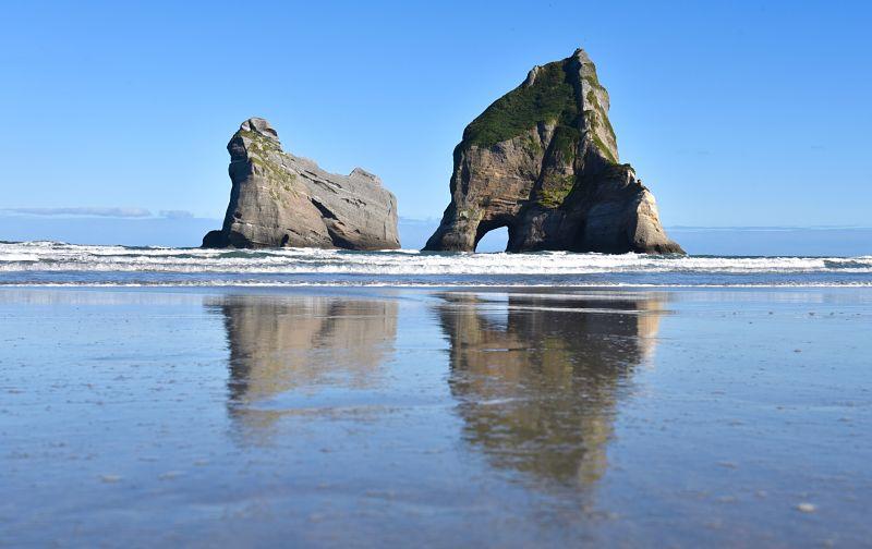 Wharariki Beach, Une des plus belles plage de Nouvelle-Zélande