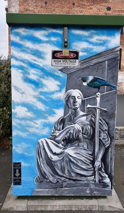Street art et mobilier urbain en Nouvelle-Zélande