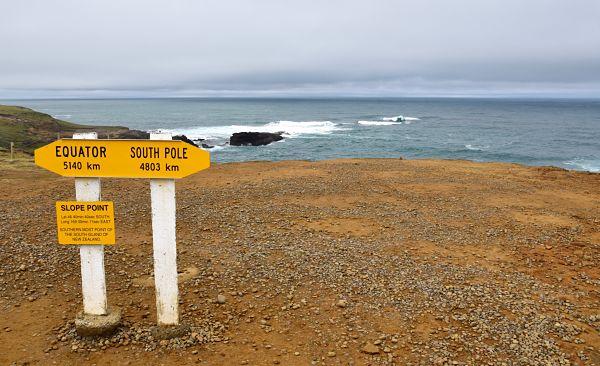 Slope point en road-trip en Nouvelle-Zélande