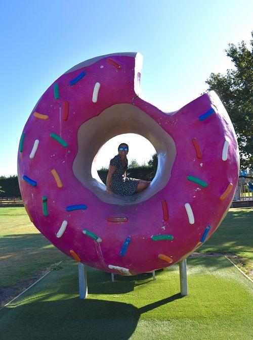 Donut géant sur la route du Arthur's Pass