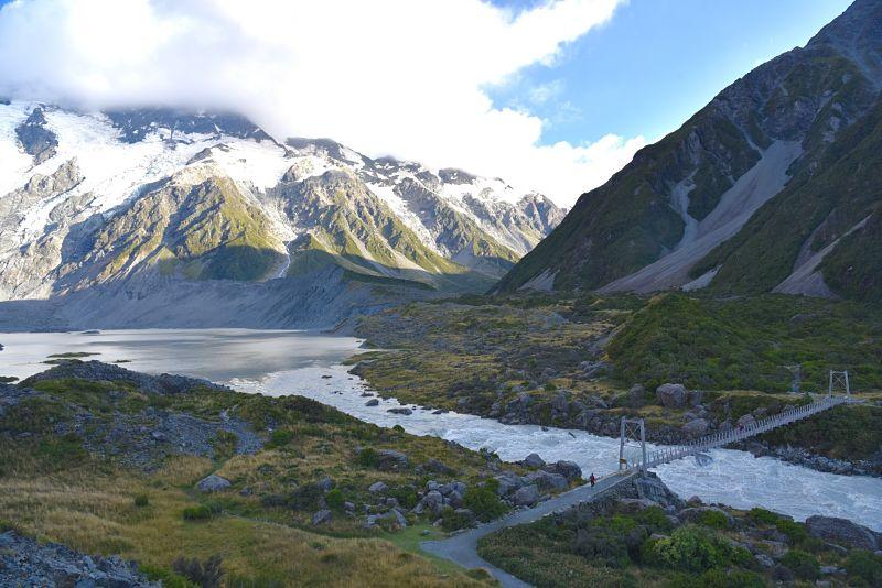 Hooker Valley Track - Randonnée au Mont Cook