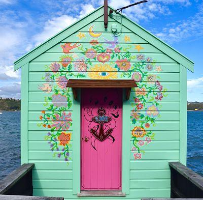 Cabane de pêcheur à Wellington