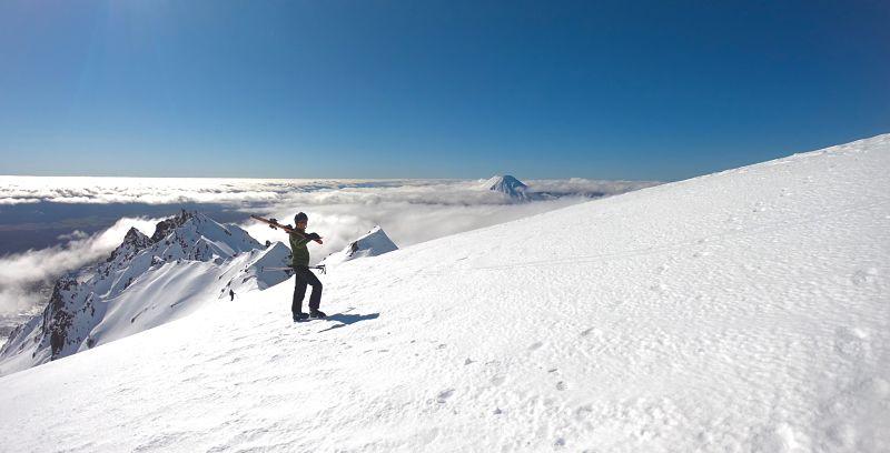 Ski sur le Mont Ruapehu en Nouvelle-Zélande