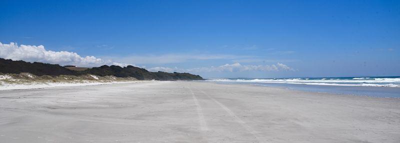 La plus belle plage du cap Reinga et de Nouvelle-Zélande Rarawa beach