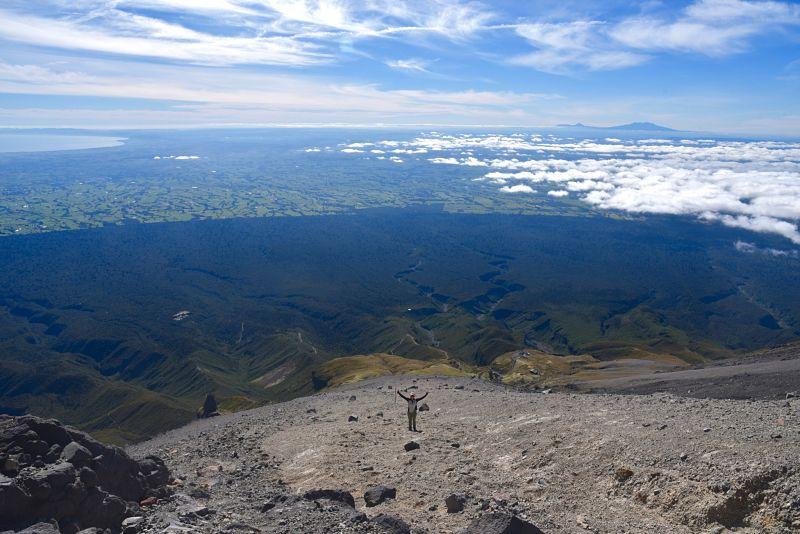 Randonnée difficile au sommet du Mont Taranaki