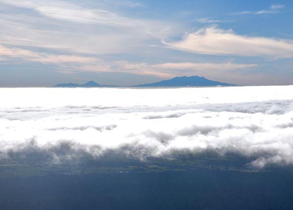 Vue sur le parc national de Tongariro depuis le Mont Taranaki