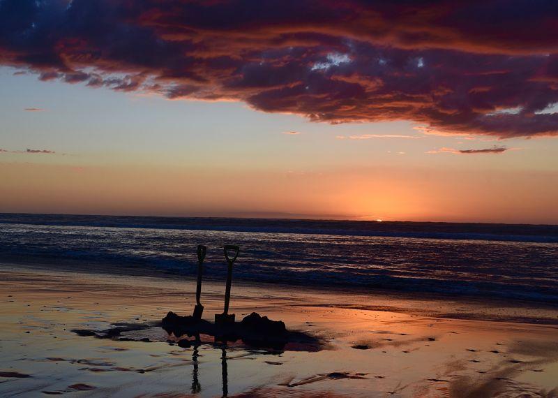 Hot Water Beach de Ocean Beach à Kawhia Nouvelle-Zélande