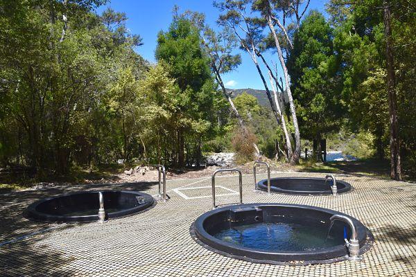 Sources chaudes près de Napier pendant notre road-trip en Nouvelle-Zélande