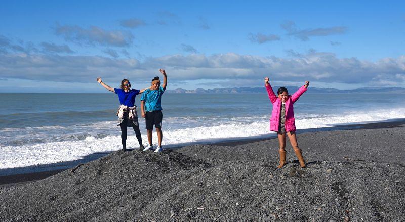 Famille maorie lors de notre voyage en Nouvelle-Zélande
